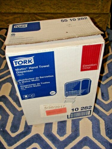 Tork Matic Hand Towel Dispenser -  H1 #55 10 282 Plastic Black NEW OLD STOCK