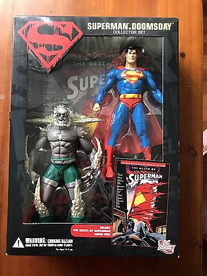 DC Direct Superman Vs Doomsday Collector Set.  New!!!
