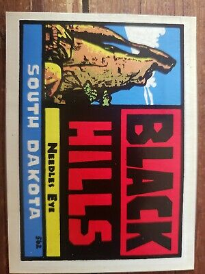 Vintage BAXTER LANE SOUTH DAKOTA NEEDLES EYE BLACK travel water transfer decal