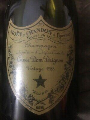 Vintage 1988 Moet & Chandon Cuvée Dom Perignon Champagne Empty Bottle (Champagne Bottle)