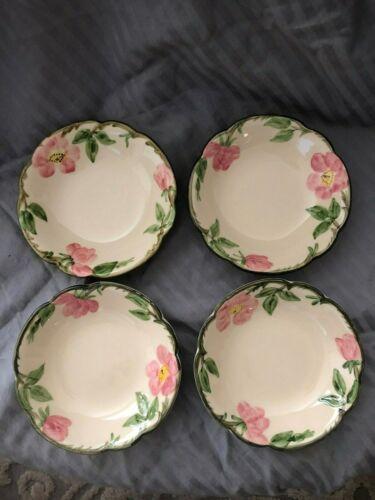 Franciscan Ware Desert Rose Pattern Rimmed Salad Soup Bowl SET OF 4