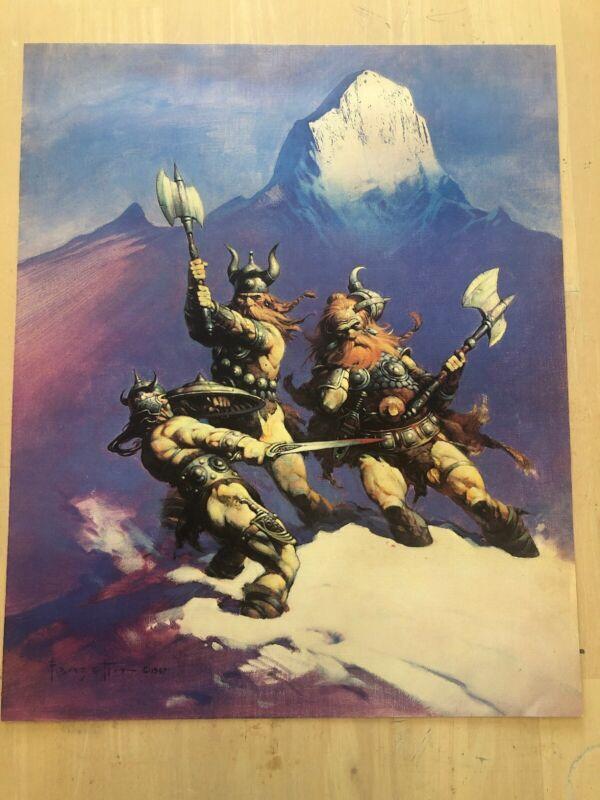 FRANK FRAZETTA The Snow Giants FANTASY Litho PRINT 16 X 20 Vintage Prints #17