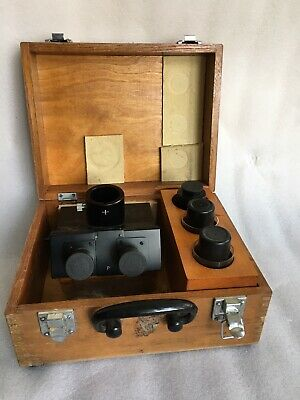 Leitz Pol Microscope Trinocular Head P Wpair Of Eyepieces Photo Adapter