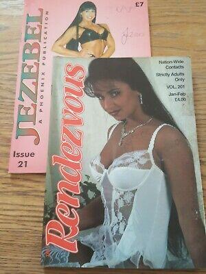 2 x Vintage Glamour Adult contacts Magazines Rendezvous & Jezebel 21 & 201