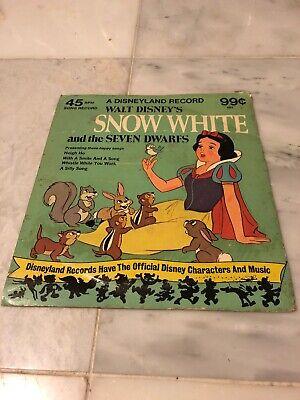 1975 Disneyland Records Snow White And The Seven Dwarfs