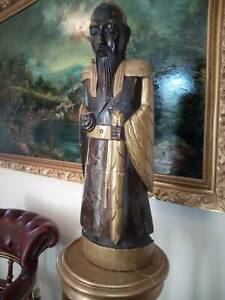 old antique wooden statue of man priest Concord West Canada Bay Area Preview