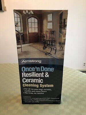 Armstrong Once 'n Done Resilient & Ceramic Floor Cleaner Kit: 32oz Cleaner & Mop Resilient Floor Cleaner