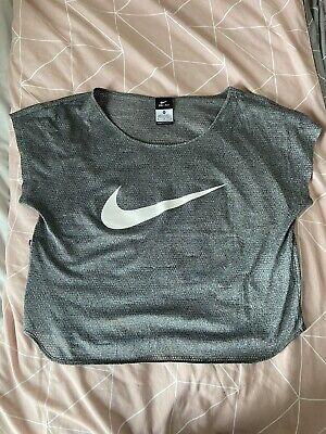 Grey Nike mesh crop top size medium