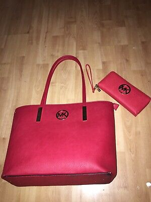 Not Genuine Red mk bag and purse