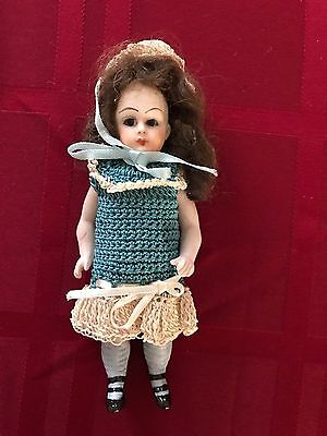 """5"""" Antique Tiny Bisque Doll-Mignonette French/German?"""