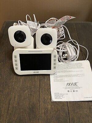 """Video Baby Monitor + 2 Cameras: 4.3"""" LCD Screen - Axvue E612 (OPEN BOX)"""