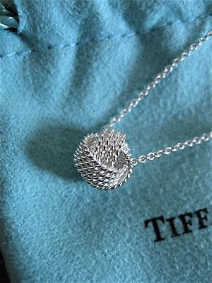 """$135 Tiffany & Co Sterling Silver 925 Twist Knot Pendant on 16""""inch Necklace"""