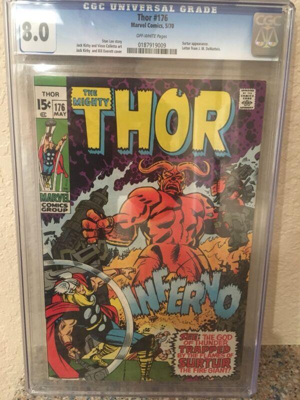 Thor #176 (May 1970, Marvel) CGC 8.0