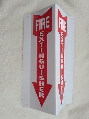 1-sign 4 X 12 3-d Rigid Plastic Angle Fire Extinguisher Arrow Sign