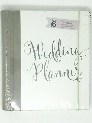 Wedding Planner with Full Checklists Tabbed and Plastic Pockets by Busy B