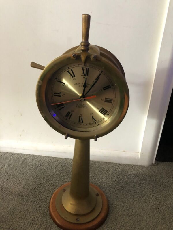 "Brass 18"" Mark & Stephens Co.ltd. Oceanic Quartz  Engine Room TeleGraph Clock"