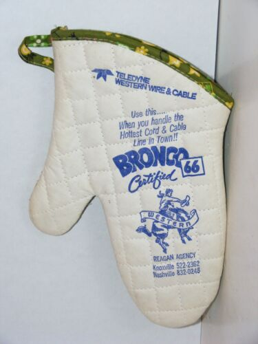 Quilted Pot Holder Teledyne Western Wire Cable Knoxville TN Bucking Bronco Horse
