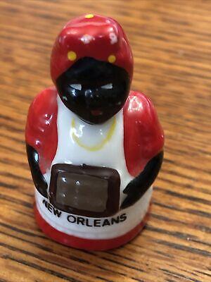 Thimble Woman holding Purse New Orleans Souvenir Americana