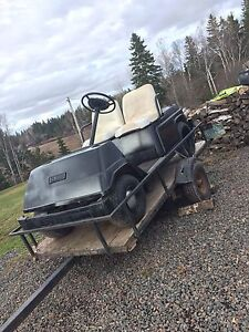 SNOWMOBILE SWAPPED YAMAHA GOLFCART!