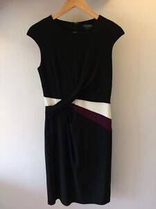 Ralph Lauren Size 6 Dress black with purple and white