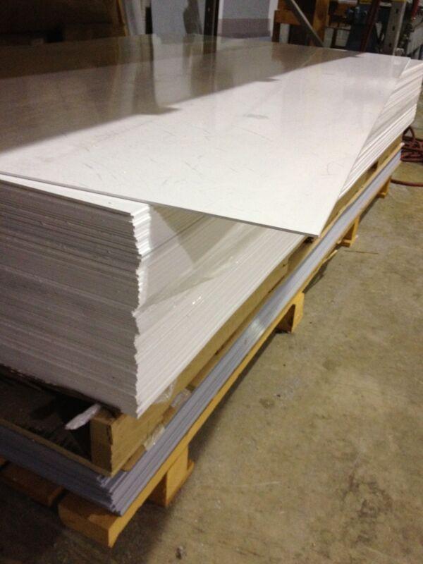 "Palopaque Rigid PVC Flat Sheet 1/8"" (3mm)  12"" x 48"" White"