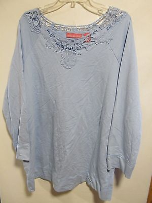 Woman Within Plus Size 1X Blue Long Sleeve Lot 14