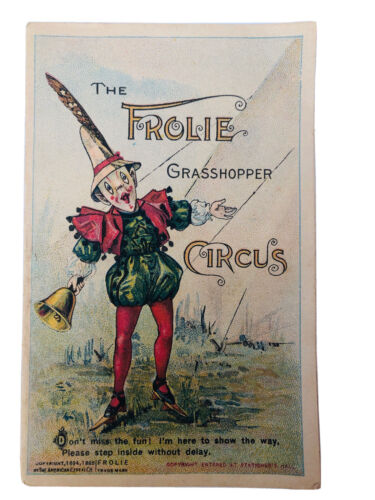 Antique QUAKER OATS The Frolie GRASSHOPPER CIRCUS, Graphic Booklet 1895 - Cereal