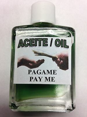 MYSTICAL / SPIRITUAL OIL (ACEITE) FOR SPELLS & ANOINTING 1/2 OZ PAY ME / PAGAME