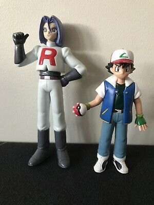 Pokemon Figures Ash And Team Rocket James. Tomy 1998