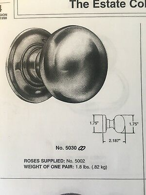 Baldwin Estate Collection Knob 5030-150 with 5002 Rosettes