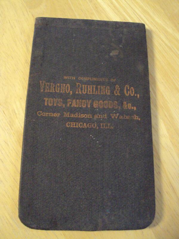 ANTIQUE ca. 1885 ADVERTISING Notebook/Memo Pad~AMAZING GRAPHICS~