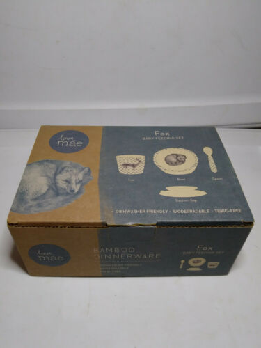Love Mae Fox Baby Feeding Gift Set - NEW