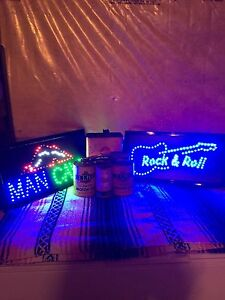 LED Signs and vintage oil cans