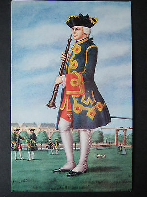 LARGE MILITARY POSTCARD- OBOIST OF THE HOLLAND GUARDS 1760