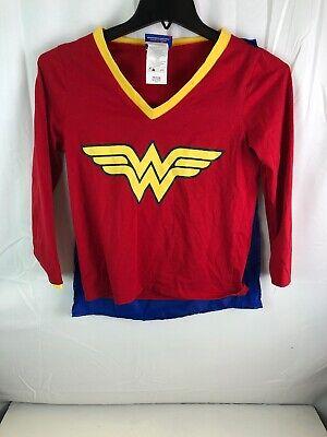 Wonder Woman Halloween Shirt (Womens Caped Wonder Woman Halloween Long Sleeved Tee Shirt Wonderwoman)
