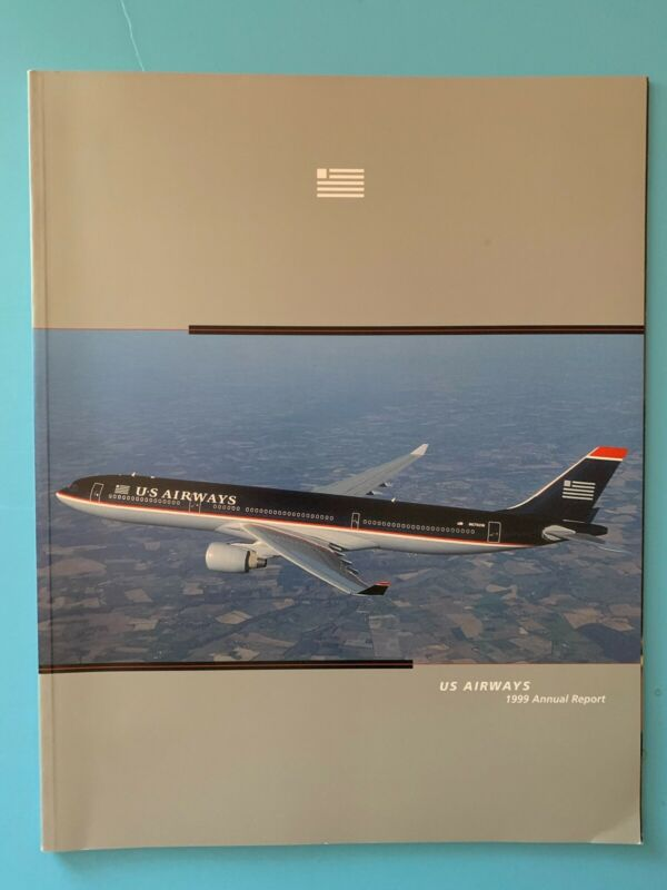 US Airways 1999 Annual Report Free Shipping!