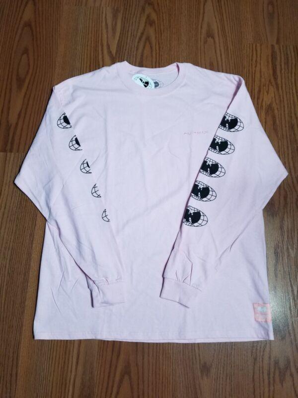 NWT Wu Tang wu wear pink globe l/s shirt sz XL wu official