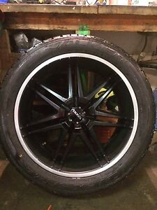 "Set of 4 22"" boss rims with falken tires"