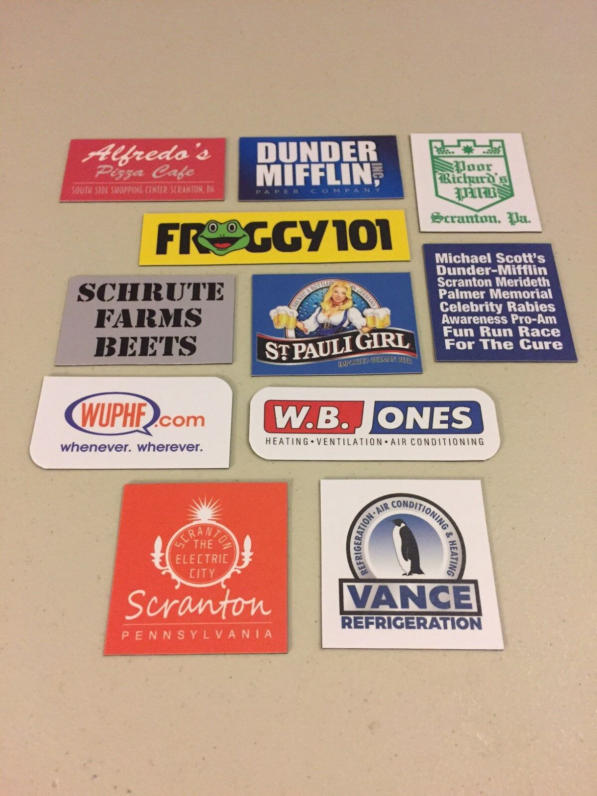 Купить The Office Dunder Mifflin Refrigerator Magnets 11 Total