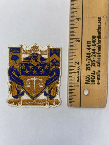 "Delta Upsilon 3"" Embroidered Shield Crest Patch VINTAGE RARE FREE SHIP"