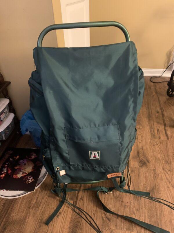 Vintage Lite Academy Broadway Jasper Camping Hiking Frame Backpack Green 4730