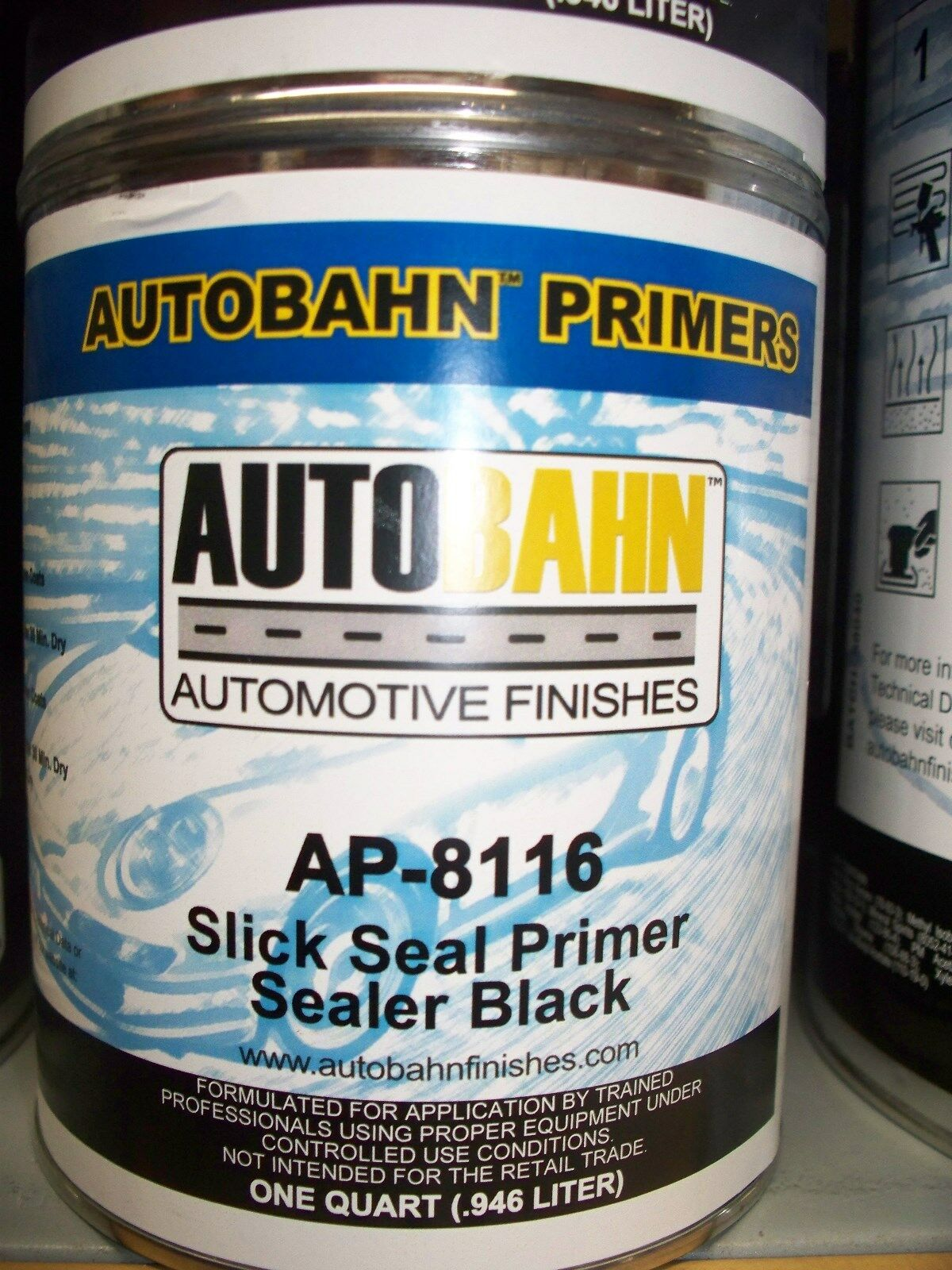 black slick seal primer sealer ready to spray 1 gallon auto car