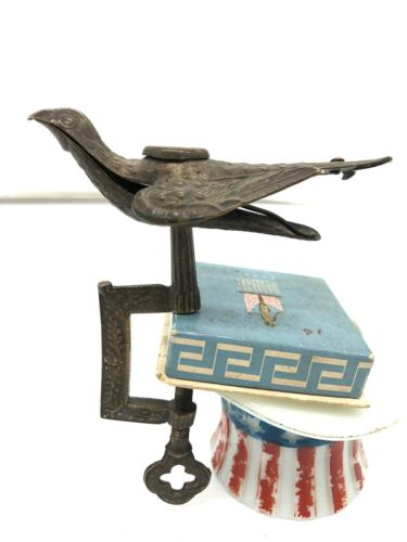 CIRCA 1850'S Vintage BRASS SEWING BIRD  EAGLE 2 Missing Cushion Old