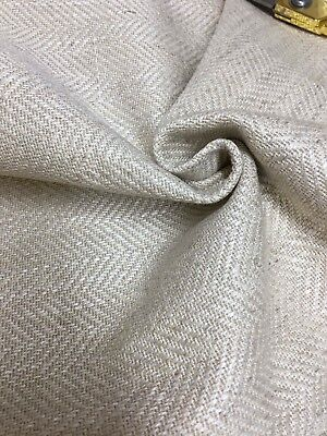 LAURA ASHLEY NATURAL WOVEN UPHOLSTERY FABRIC 1.4 METRES..