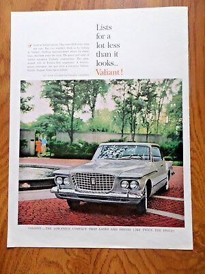 1961 Plymouth Valiant Ad  Lists for lot less than it Looks