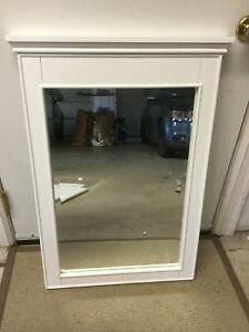 2 White Wood-framed Mirrors - NEW IN BOXES