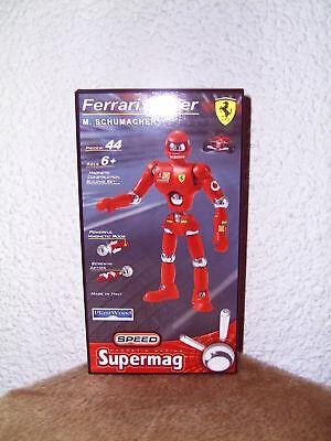 Schumacher Ferrari Driver Magnet Konstruktion 44 Teile Supermag 22cm Bastelspiel