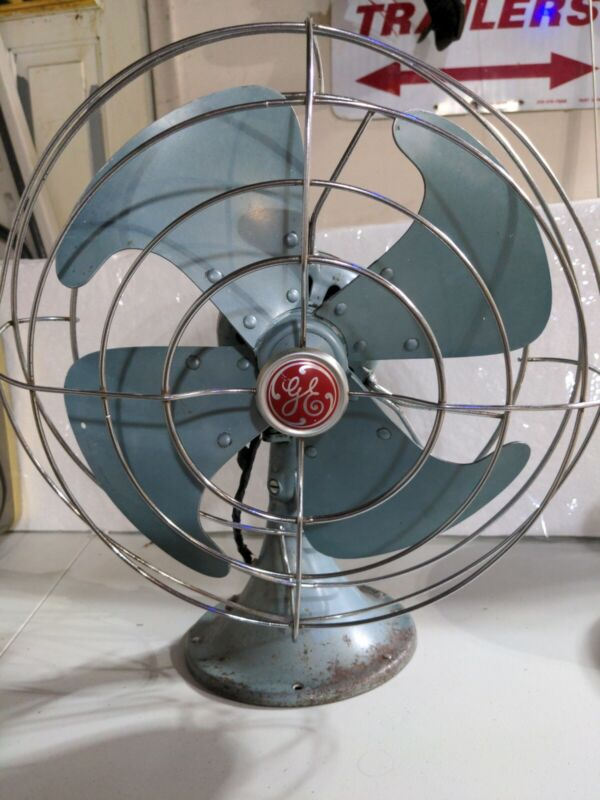 Vintage General Electric Vortalex Oscillating Fan For Parts/Repair sold As Is