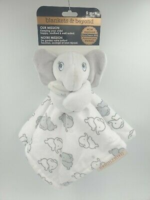 Blankets & Beyond Security Blanket, Plush Elephant, Baby Gift Shower, Gray L20