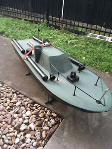 Hand Made vintage Remote control Boat
